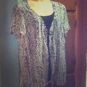 NWOT Black and White Blouse